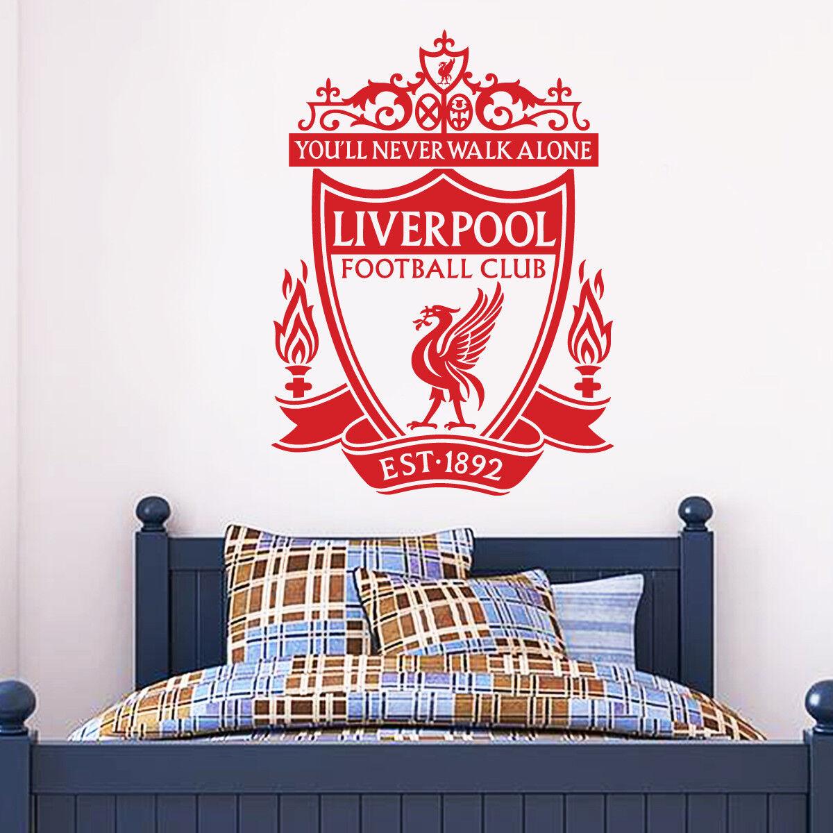 Liverpool Football Club eine Farbe Wappen Wandaufkleber + Lfc Aufkleber Set