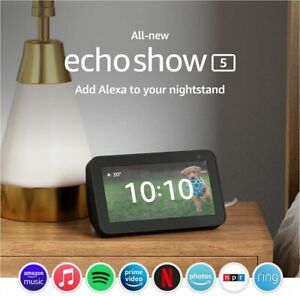 All-new Echo Show 5 2nd Gen, 2021 release with Alexa  & 2 MP camera  Charcoal