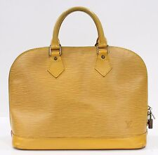 Used Authentic Louis Vuitton Alma Epi Yellow LV Bag 916