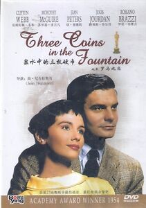 Three-Coins-in-the-Fountain-DVD-Clifton-Webb-Dorothy-McGuire-Jean-Peters-NEW