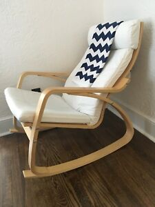 Image is loading IKEA-Poang-Rocking-Chair-great-for-a-modern- & IKEA Poang Rocking Chair - great for a modern nursery | eBay