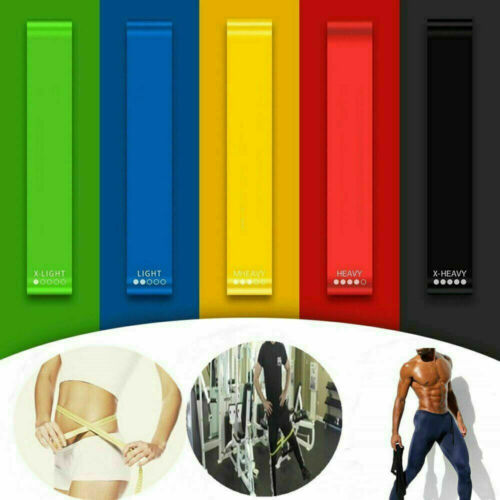 Yoga Gym Fitness Resistance Elastic Training Rubber Band Stretch Exercise HOT!