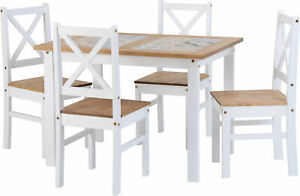Seconique-Salvador-Ceramic-Tile-Top-Dining-Set-Table-amp-4-Chairs-White-amp-Pine