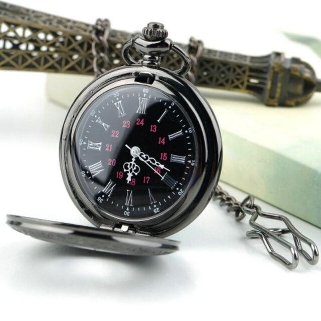 Steampunk Retro Vintage Chain Quartz Pocket Watch Roman Pattern lH