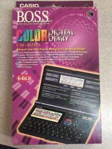 NOS-Casio-COLOR-LCD-Digital-Diary-CSF-4650-w-B-O-S-S-64kb-Organizer-VINTAGE-NEW