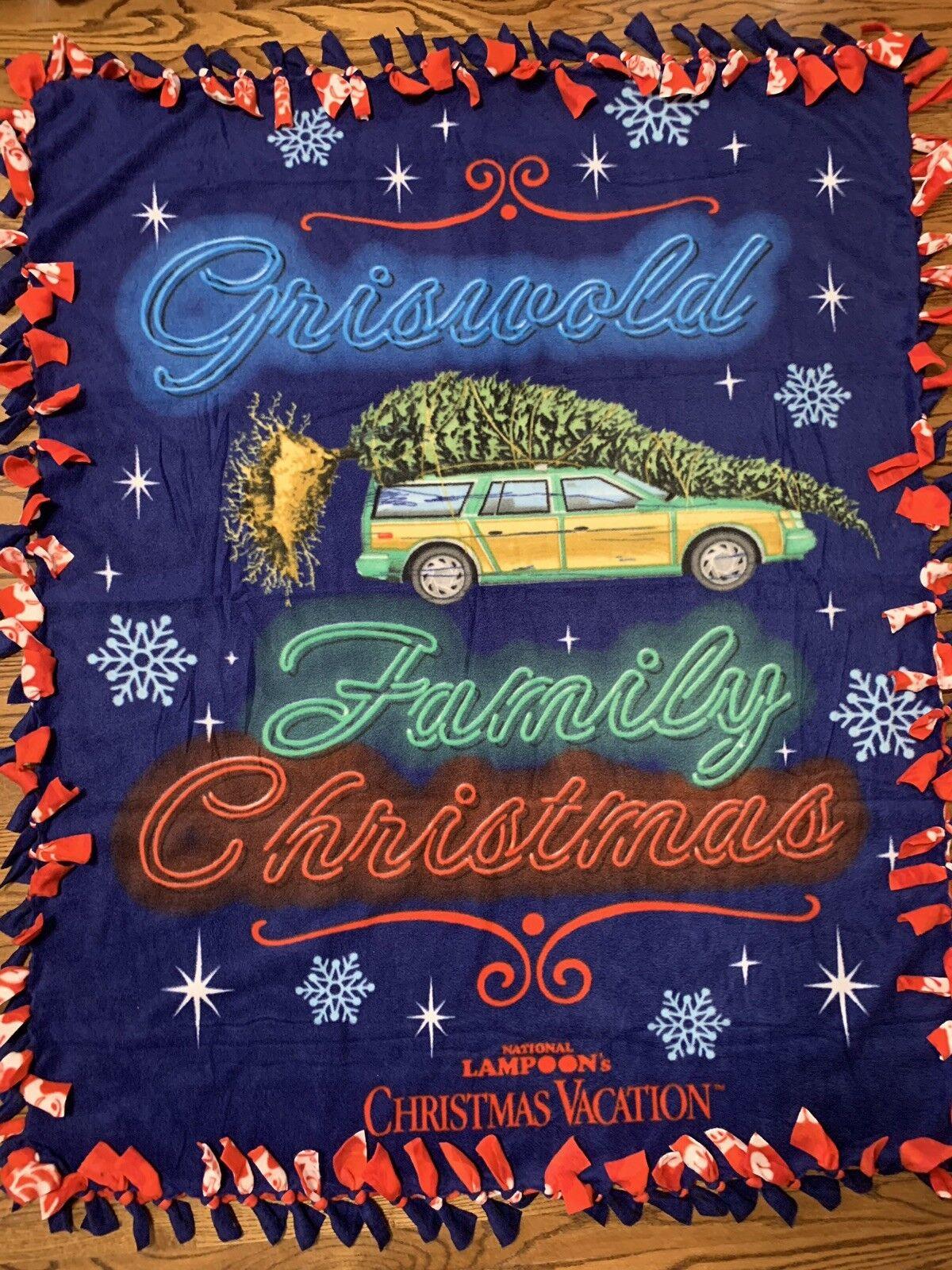 National Lampoons Christmas Vacation Fleece Tie Blanket
