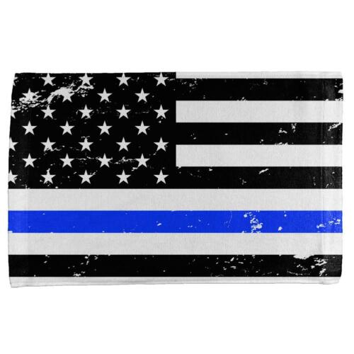 4th of July Distressed Thin Blue Line American Flag All Over Hand Towel