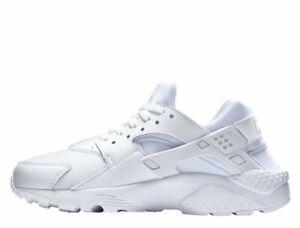 Nike Big Kid/'s Huarache Run GS White Pure Platinum Grade School Shoes 654275-110