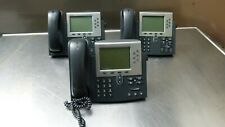 Lot Of 3 Cisco Unified Ip Phone Cp 7961g Business Ip Phone Telephone