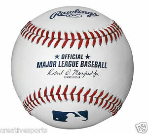 1/2 DOZEN RAWLINGS OFFICIAL LEATHER MAJOR LEAGUE BASEBALLS MLB - QTY 6 - MANFRED