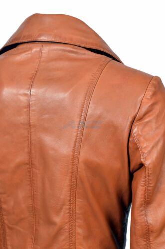 Boston New Tan Ladies Woman/'s Retro Designer Real Soft Sheep Napa Leather Jacket
