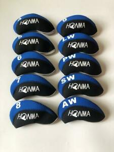 10PCS-Golf-Iron-Headcovers-for-Honma-Club-Covers-Caps-4-LW-Blue-amp-Black-Protector