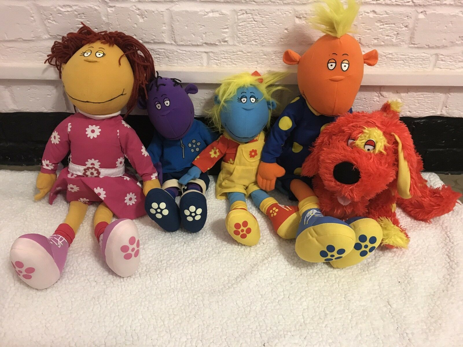 Full Set Of Tweenies Soft Toys Including Doodles Plush Bundle