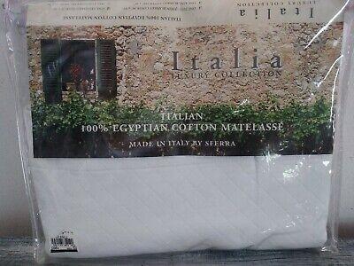 Italia Luxury Collection Sferra Continental Sham Diamond Pique Ivory