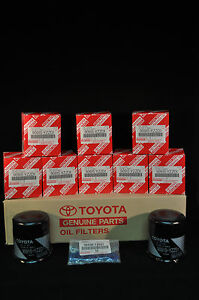 90915-YZZD1, Qty 10, Toyota Oil Filters With Drain Plug Gaskets