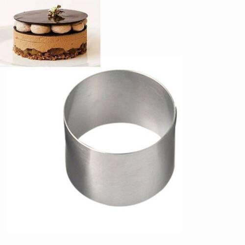 Mousse Redondo 2 pulgadas Mini Pastel Pastelería Anillo de acero inoxidable de calidad alimentaria una