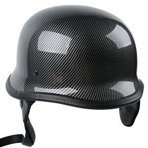 M-L-XL-Motorcycle-Motorbike-For-Cruiser-Half-Face-German-Helmet-Carbon-Fiber-DOT