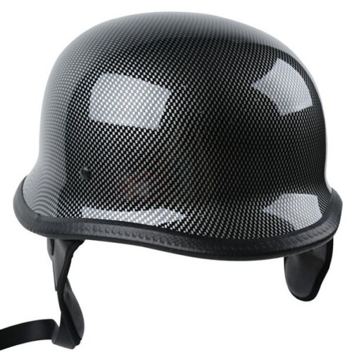DOT Motorcycle German Half Face Helmet Chopper Cruiser Scooter M L XL Black US