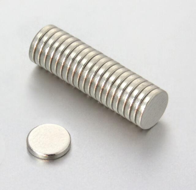 Neodym Magnete Super Mini Magneten 6 x 1 mm - Stück wählbar - runde Scheiben N38