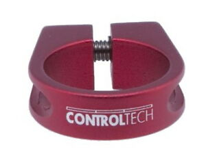 Sattelklemme 34,9 mm rot Control Tech mit Innensechskant
