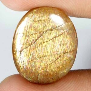 100-Natural-Golden-Sunstone-Cabochon-Loose-Gemstone-Oval-Pear-Cushion-Fancy