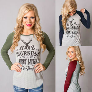Womens-Xmas-Casual-T-Shirt-Pullover-Christmas-Reindeer-Long-Sleeve-Tops-Blouse