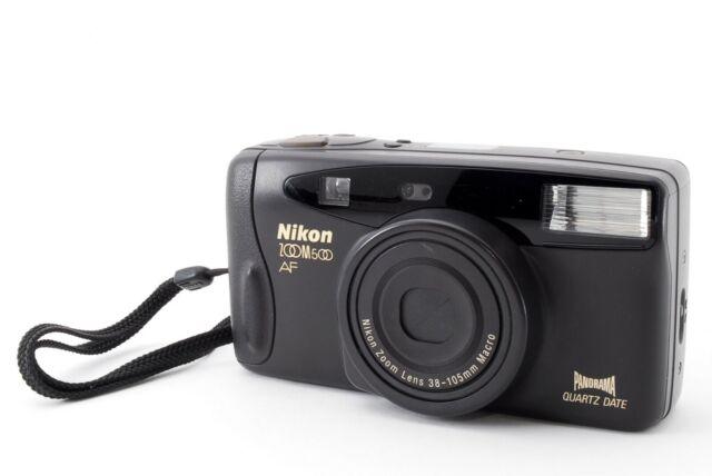 Nikon ZOOM 500 AF Point & Shoot 35mm Film Camera 35-105mm Macro from Japan [Exc]