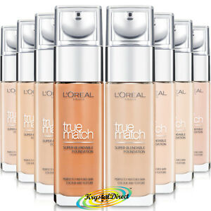 Details about Loreal True Match Super Blendable Foundation 30ml, 24H  Hydration - Choose Shade