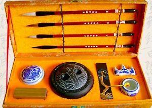 High Grade Chinese Calligraphy Brush Kanji Sumi Set