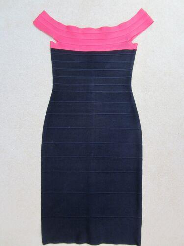 Taglia con spalla Abito a Black Xs da Léger dettagli Pink Hervé Rose fasciatura With gT7qTw8
