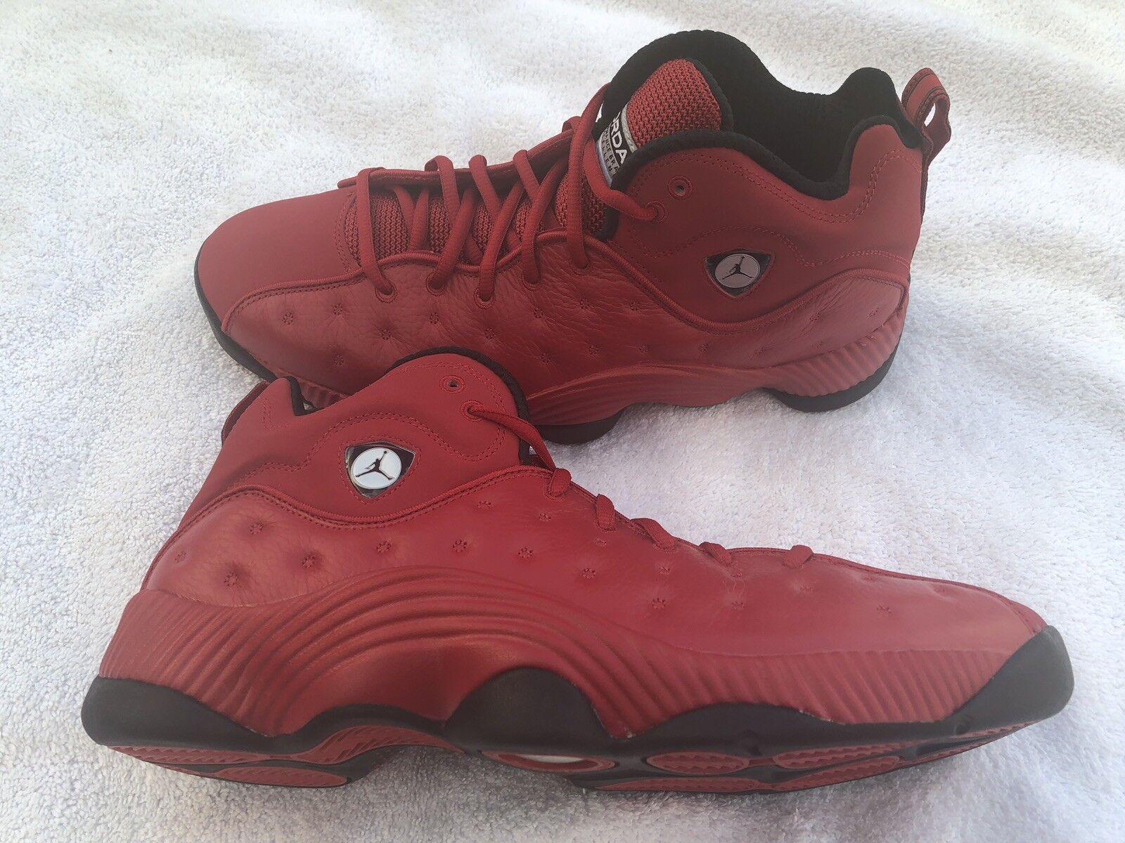 Nike Mens Air Jordan Jumpman Team II Sneakers Gym Red 819175-602 Size 12.0