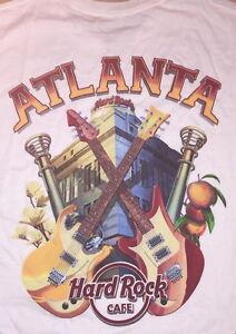 Hard-Rock-Cafe-ATLANTA-2014-Men-039-s-WHITE-City-Tee-T-SHIRT-Large-Lg-NEW-with-Tags