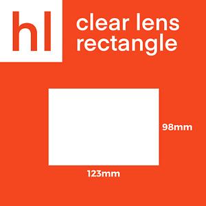 Welding Helmet Clear Lenses 112 x 091mm Rectangle Lenses 5 Pack