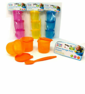 Set-Of-3-First-Steps-Baby-Toddler-Food-Storage-Pots-Lids-With-Weaning-Spoon-BPA