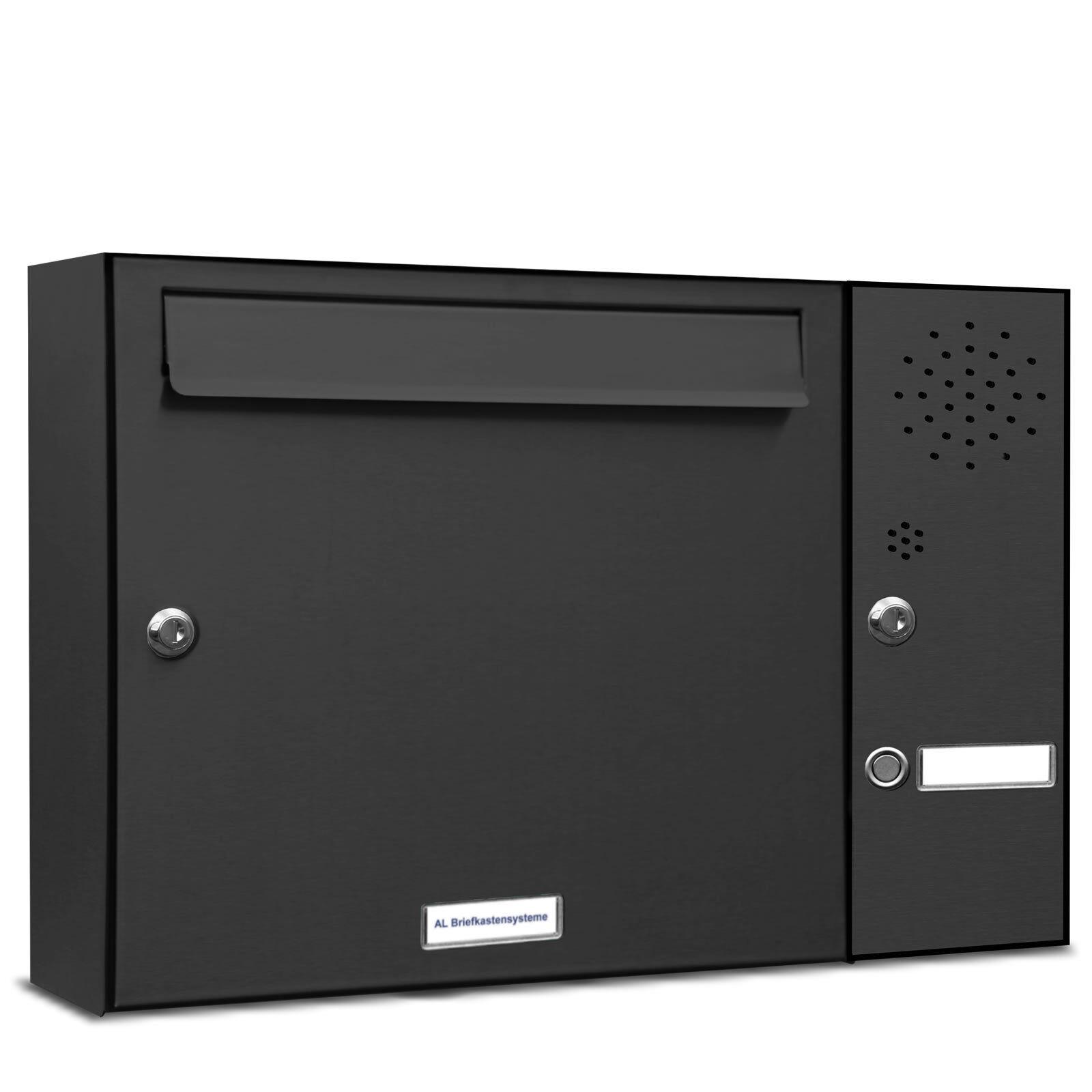 1 er Premium RAL 7016 anthrazit Wand Briefkasten Anlage Postkasten Klingel A4