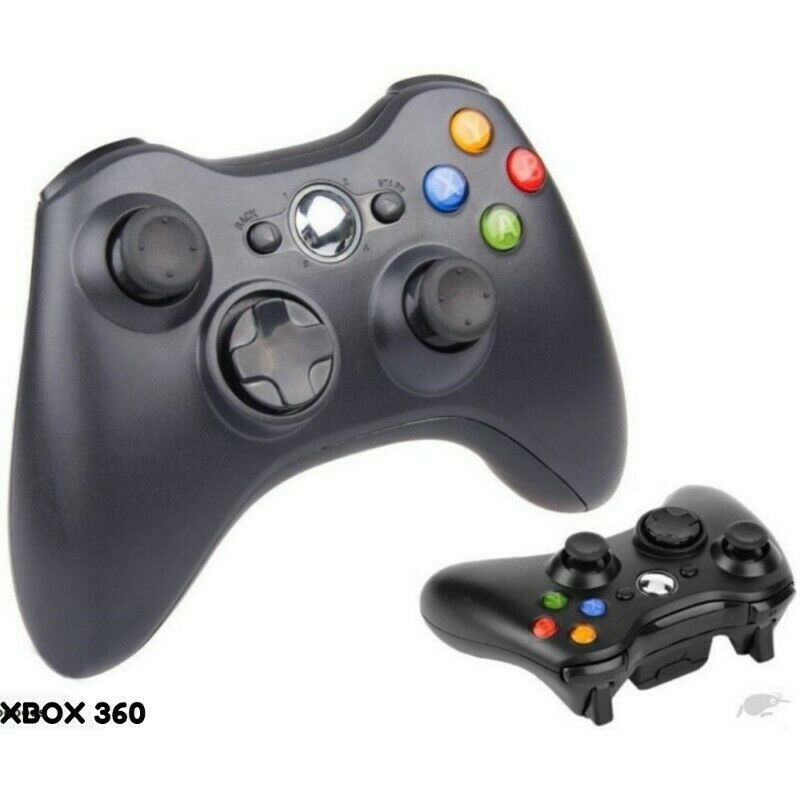 GENERIC 2.4GHz WIRELESS GAME CONTROLLER FOR XBOX 360 AND PC   SUPPORT THREE-LEVEL  BLACK