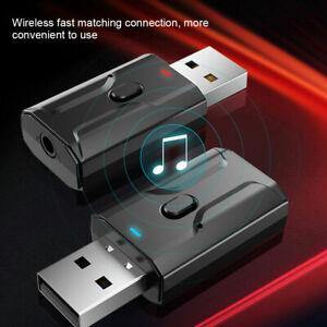Adattatore audio Bluetooth 5.0 Ricevitore Trasmettitore USB per Auto TV PC🔥