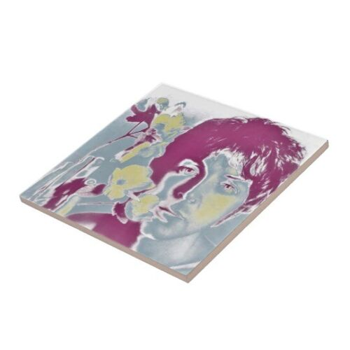 The Beatles Pop Art Nouveau Vintage Ceramic Tile Rare Azulejo 60s Majolica Set