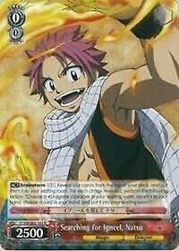 x1 Searching for Igneel Natsu Rare Normal Weiss Schwarz Fairy Tail ver.E Near M