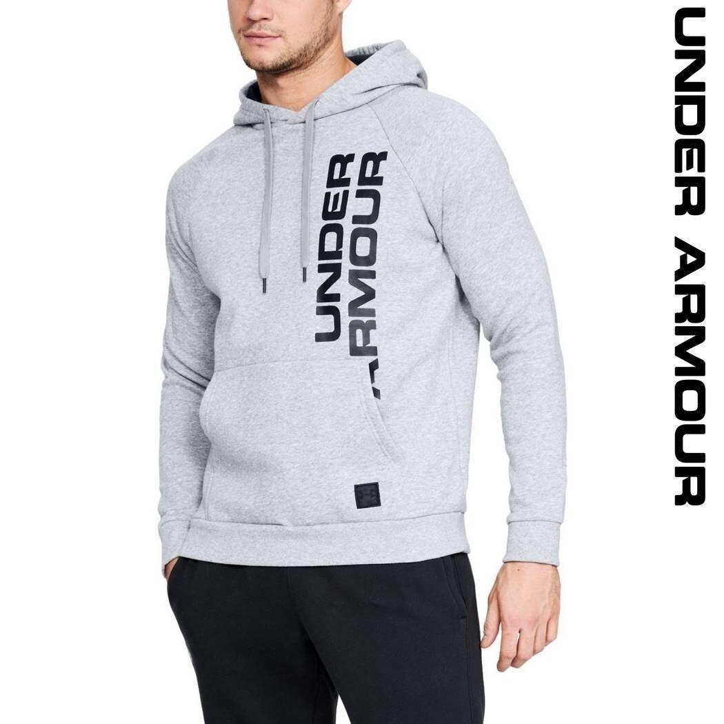 Under Armour UA Rival Fleece Sports Script Men's Hoodie Lightweight Sports Fleece 1322028-036 315e85