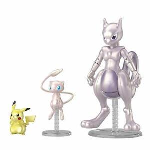 Pokemon-Plastic-Model-Collection-Mewtwo-amp-Mew-amp-Pikachu-Set-Kunststoff-Modelle