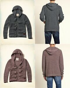 NWT-Hollister-by-Abercrombie-amp-Fitch-men-039-s-hoodie-sweater-jackets-SIZE-M-L-XL