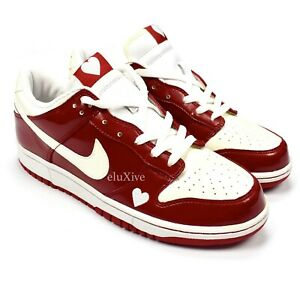 Details about NWT Nike Dunk Low Valentines Day 2004 Varsity Red White Heart Sneakers AUTHENTIC