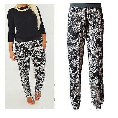 New Womens Plus Size Paisley Print Harem Ali Baba Pants Ladies Baggy Loose Size