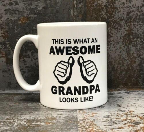This is What an Awesome Grandpa Looks Like Mug Funny Gift Idea Grandad Present