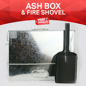 Large-Galvanised-Metal-Hot-Ash-Tidy-Box-Carrier-Bucket-Fireplace-Fire-Shovel