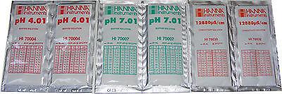 2 x tampon pH Mètre Hanna solution d/'étalonnage PH 4.01 PH 7.01 hi70007 hi70004