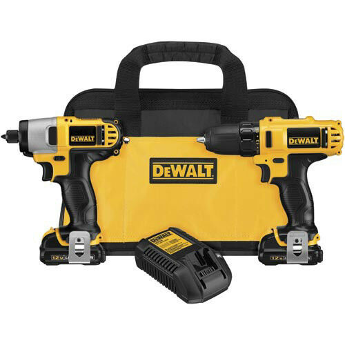 DEWALT 12V MAX Cordless Lithium-Ion Drill//Impact Driver Combo Kit DCK211S2 New
