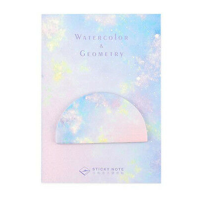 Popular Watercolor Geometric Self-Adhesive Memo Pad Sticky Notes Page Marker CN
