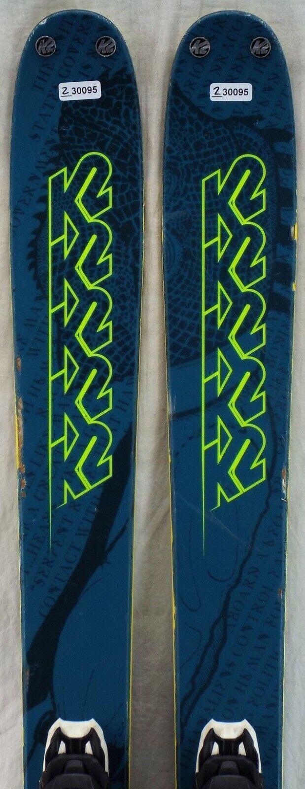 18-19 K2 Poacher Used Men's Demo Skis w Bindings Size 170cm